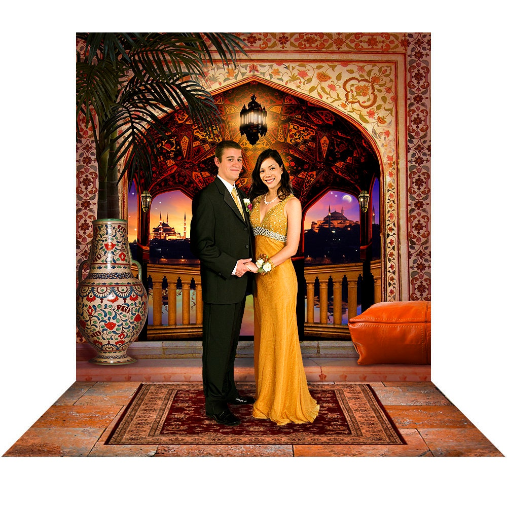 Aladdin & Jasmine Arabian Prom Backdrop Prop, Homecoming Moroccan Party Decor, Photo Booth by Alba Backgrounds Photo Backdrop Alba Backgrounds 49.00 USD