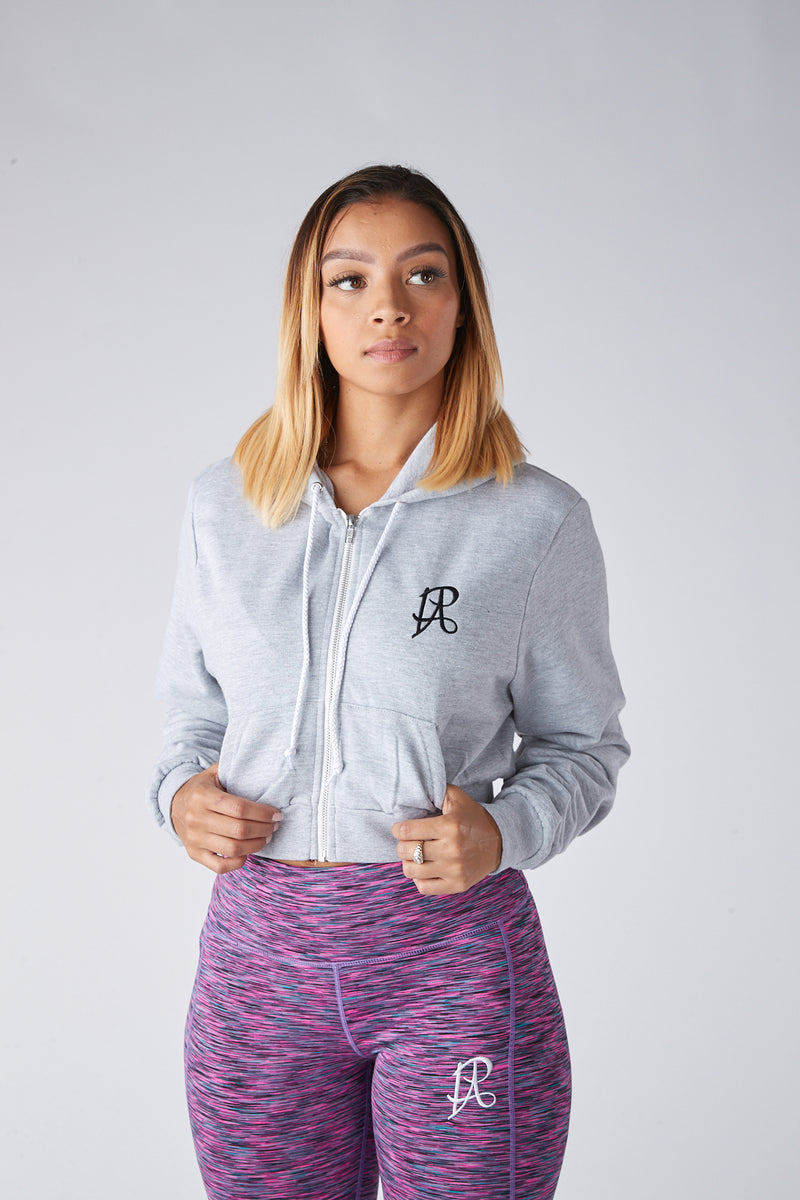 PA Signature Crop Hoodie - Grey - Prospect Apparel