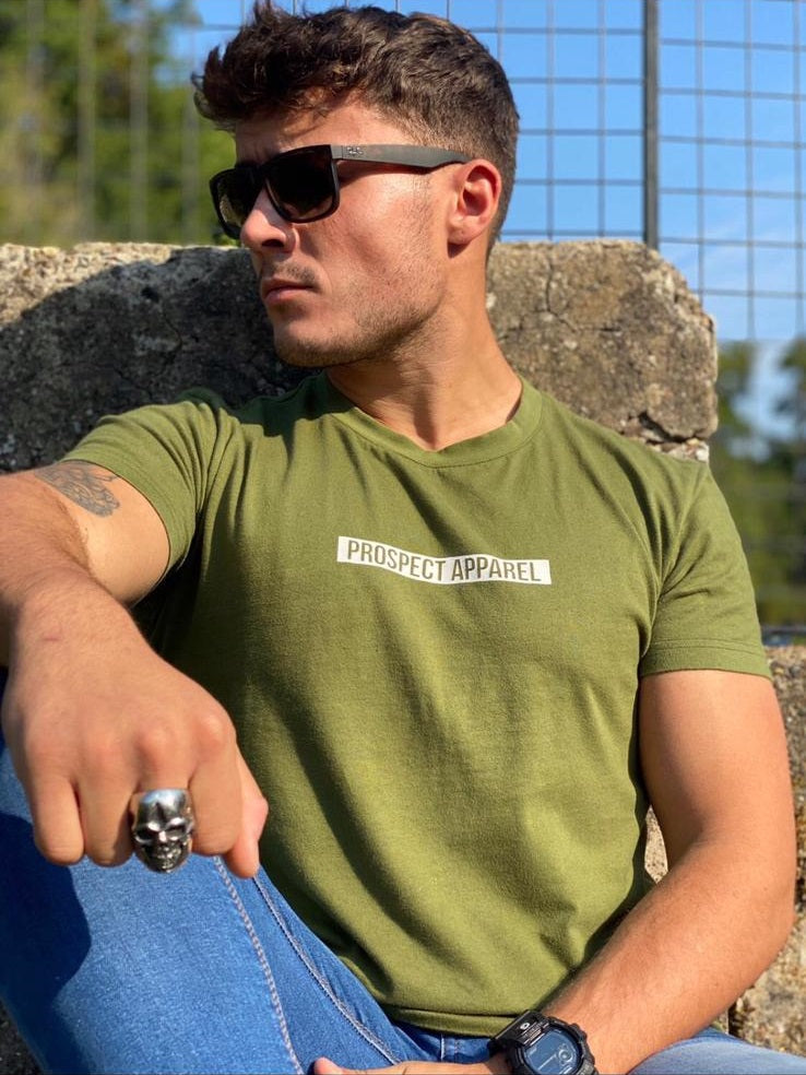 Prospect Apparel Block T-shirt green mens gym casual