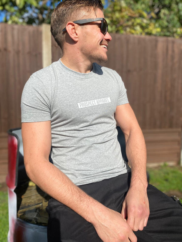 Prospect Apparel Block T-shirt grey mens gym casual