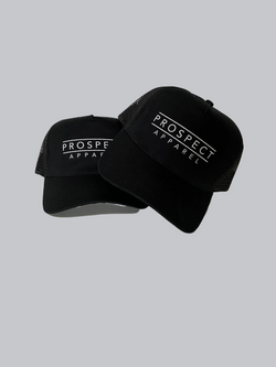 Printed prospect apparel trucker black