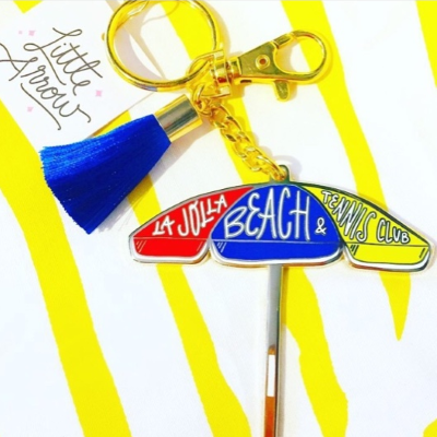 LJBTC Beach Umbrella Keychain