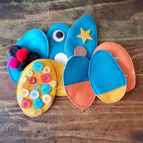 Decorated Felt Easter Eggs