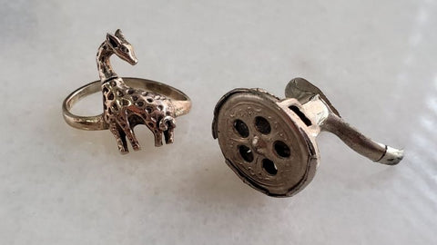 giraffe and whistle rings
