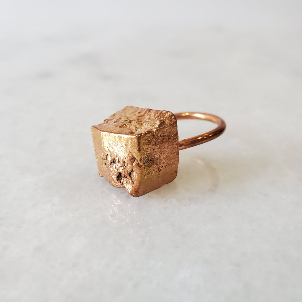 raw brass ring