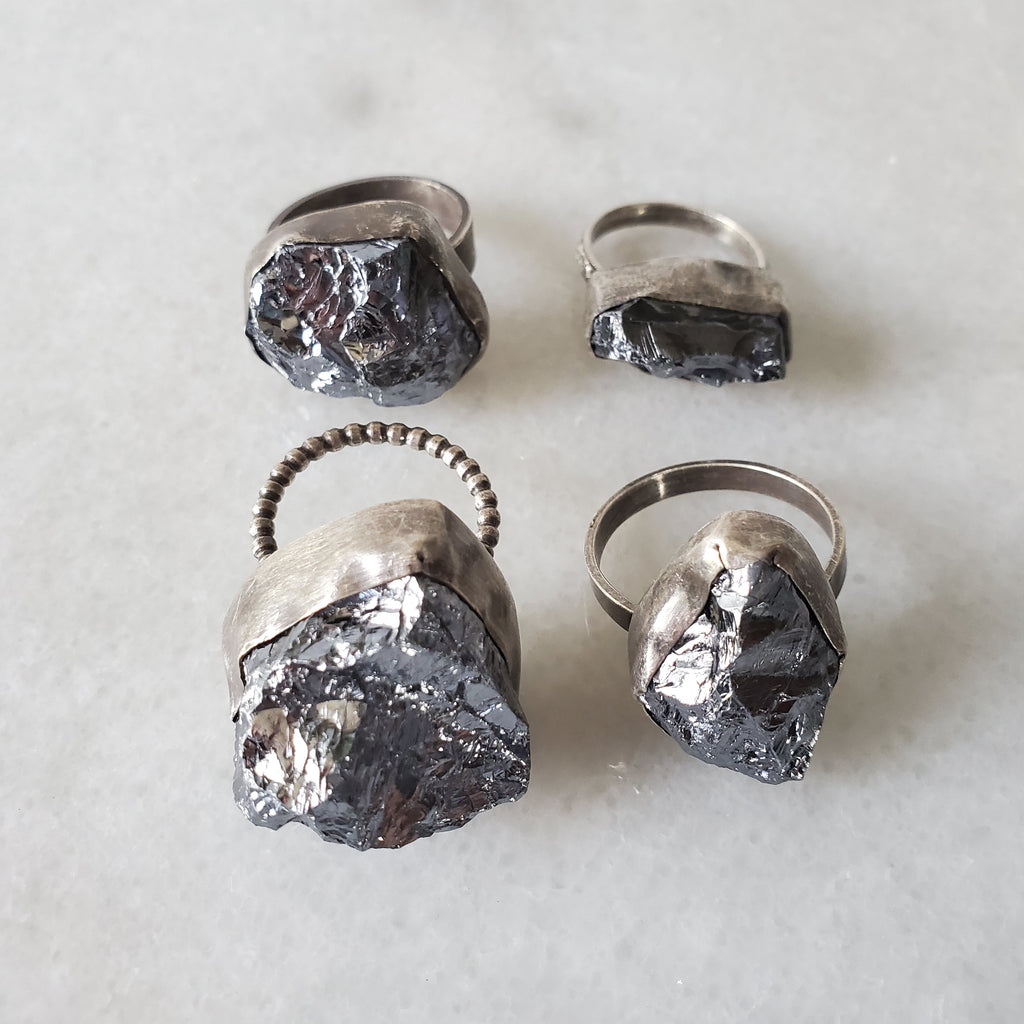 set of four crystalline silicon rings