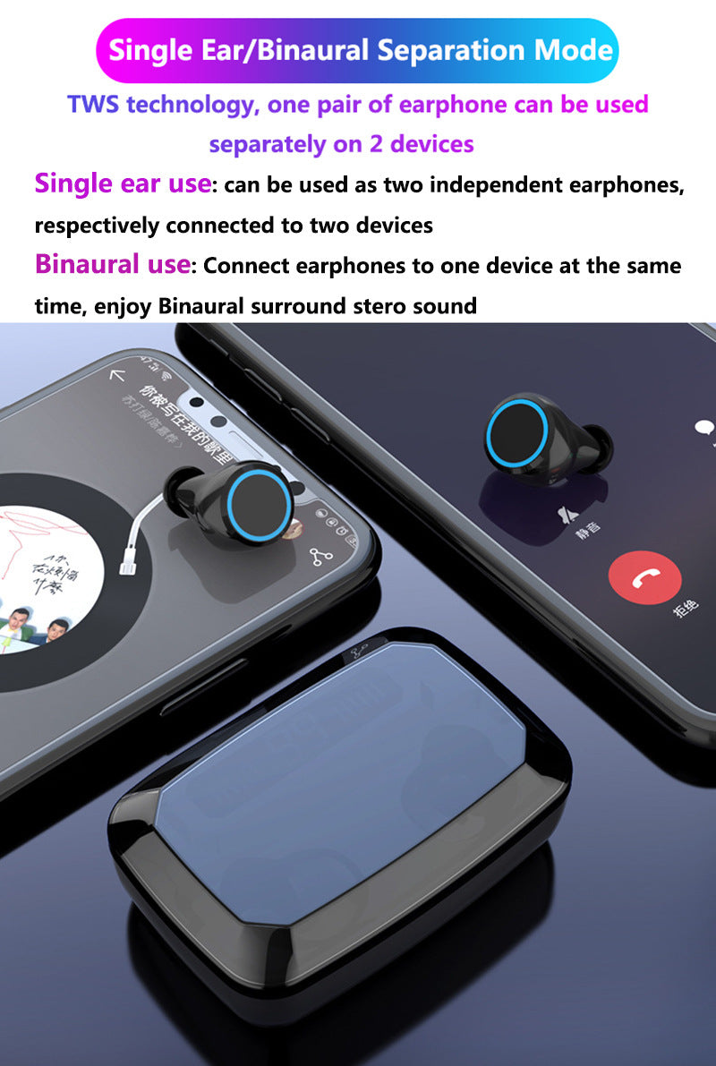 LED Bluetooth TWS Noise Cancelling Earphones