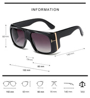 2021 Fashion Oversized Shield Style Gradient Sunglasses