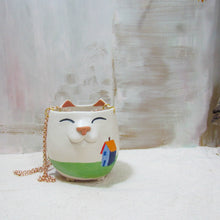 Load image into Gallery viewer, Illustrated Hanging Planter Kitty