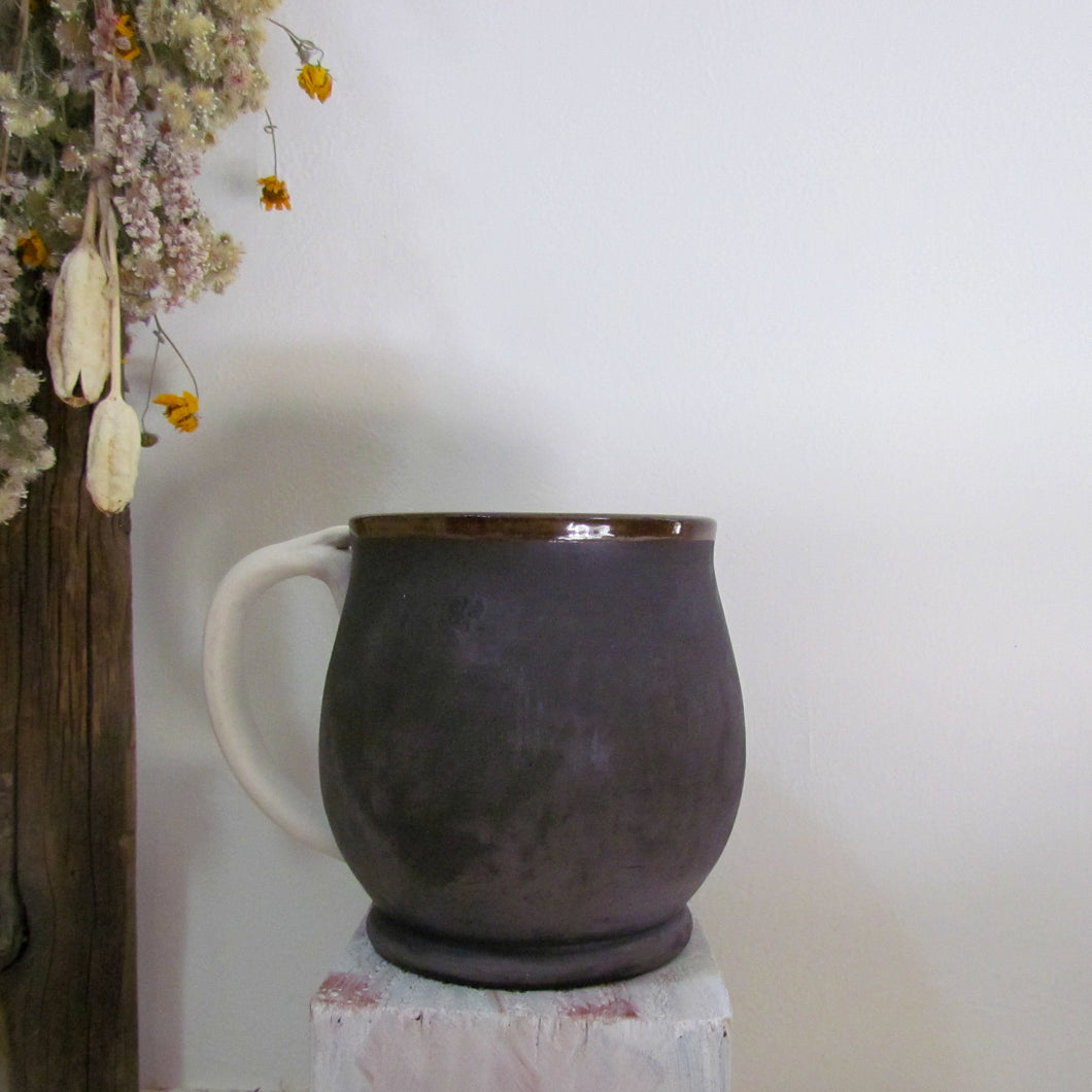 Burnished Black Mug