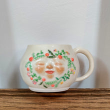 Load image into Gallery viewer, Floral Face Mug in Pink
