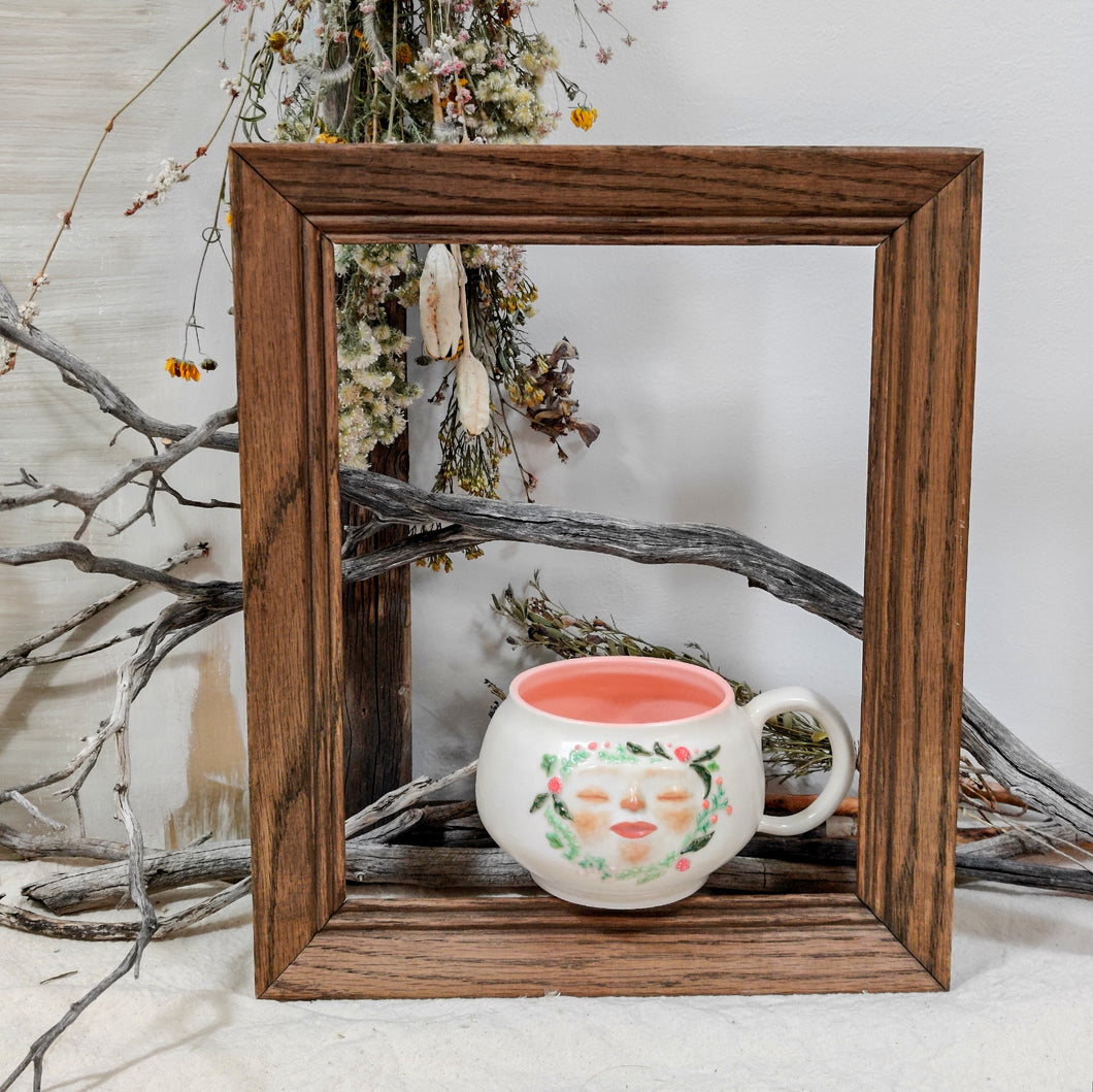 Floral Face Mug in Citrus