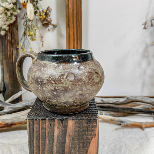 Green-Brown Moon Mug