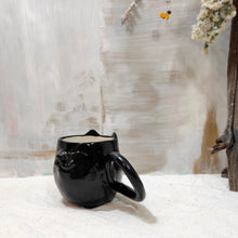 Load image into Gallery viewer, 8oz Black Kitty Mug