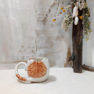 8oz Brown Tabby Kitty Mug