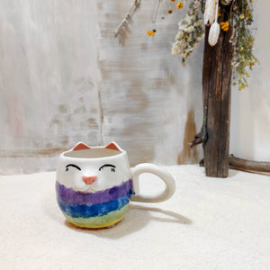 8oz Rainbow Kitty Mug