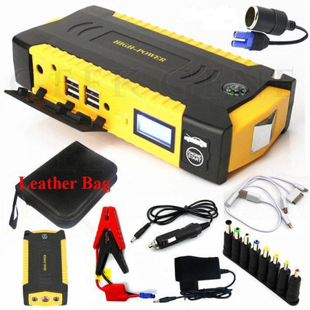 High Power Jump Starter Battery Pack - 600A || 16000mAh