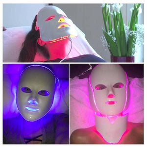 LED Light Therapy Skin Repair Treatment Facial Spa Mask
