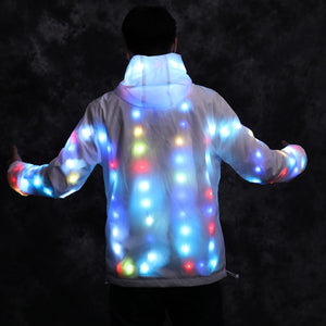 Glow Luminous LED Unisex Hoodie For Halloween/Christmas/Parties