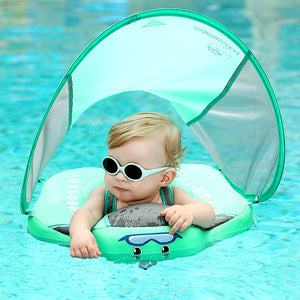 Mambo Baby Swim Ring Float With UV Protection Canopy