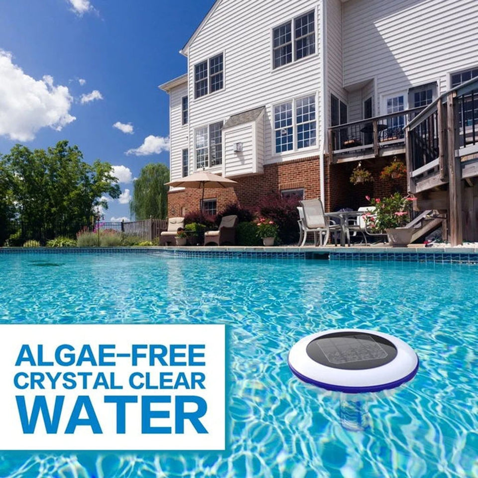 "Solar Swimming Pool ""Chemical Free"" Ionizer - Kills Algae & Purifies Water"