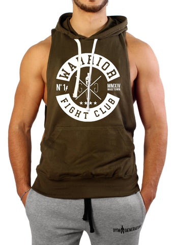 "Kapuzen Tank Top ""Fight Club"" - Olive - Gym Generation-"
