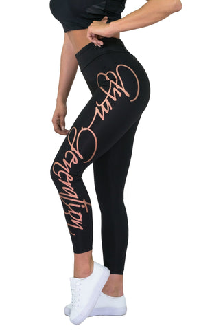 Gym Generation Leggings - Schwarz / Rose Gold - Gym Generation-