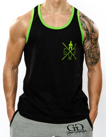 Gym Warriors Tank Top - Lime - Gym Generation-