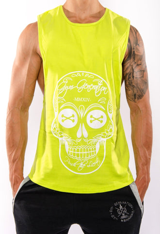 La Catrina Muscle Tank Top - Lime - Gym Generation-