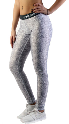 Mandala Fitness Leggings - Grau - Gym Generation-
