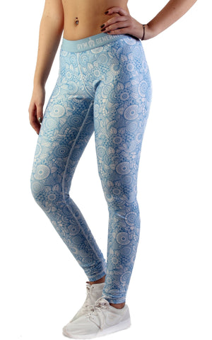 Mandala Fitness Leggings - Skyblue - Gym Generation-