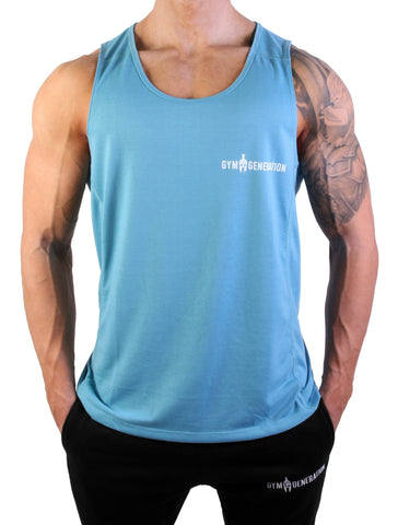 Powerboost Fitness Tank Top - Azure - Gym Generation-