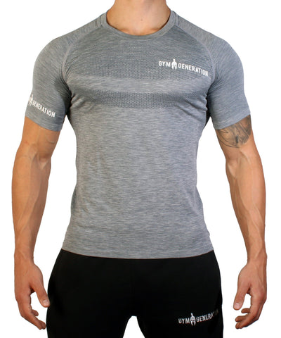 Seamless Fitness Shirt - Frost Grey - Gym Generation-