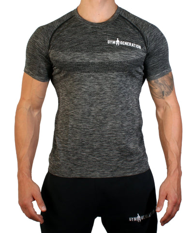 Seamless Fitness Shirt - Gunmetal - Gym Generation-