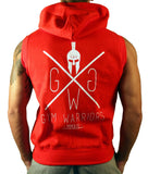 Sleeveless Gym Hoodie - Rot - Gym Generation-