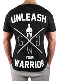 Unleash your Warrior T-Shirt - Schwarz - Gym Generation-