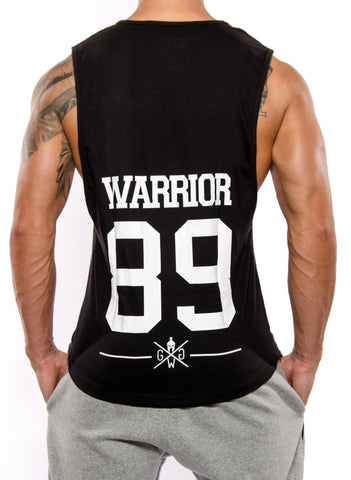 Warrior 89 Muscle Tank Top - Black - Gym Generation-