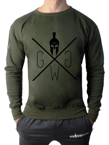 Warrior Sweater - Olive - Gym Generation-