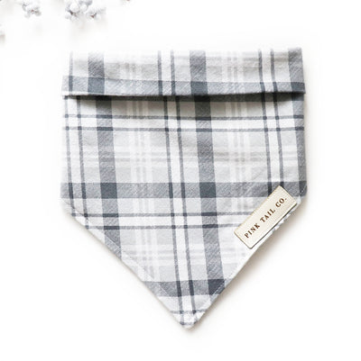 Gray Plaid | Dog Bandana