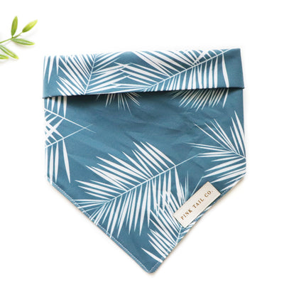 Navy Palms | Dog Bandana