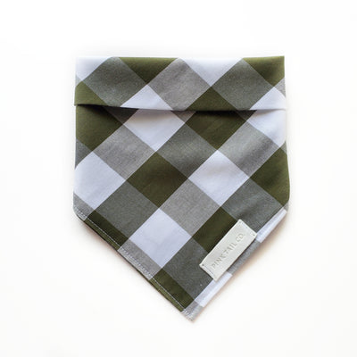 Olive Plaid | Dog Bandana