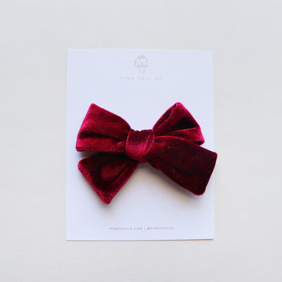 Winterberry | Velvet Hair Bow