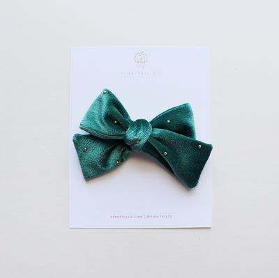 Emerald | Velvet Hair Bow
