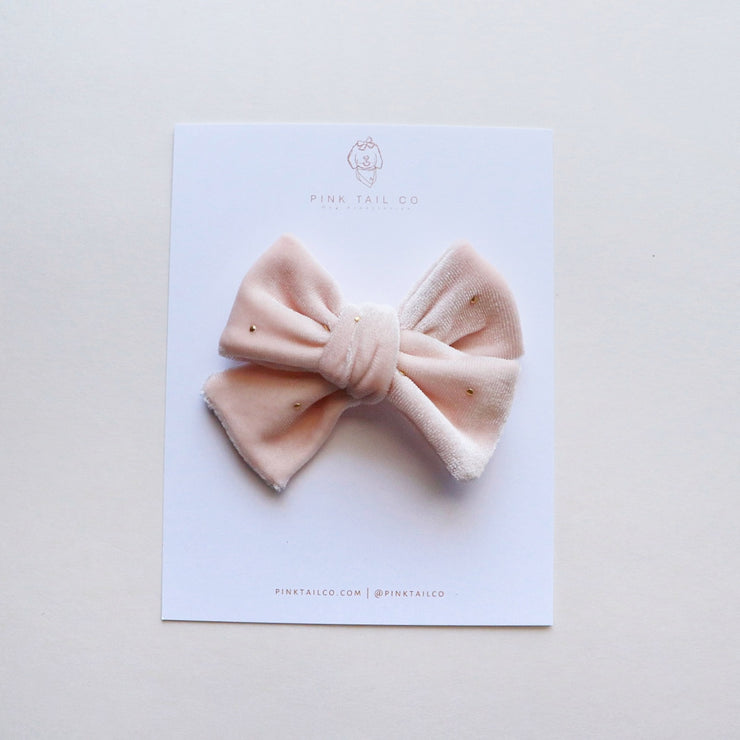 Champagne | Velvet Hair Bow