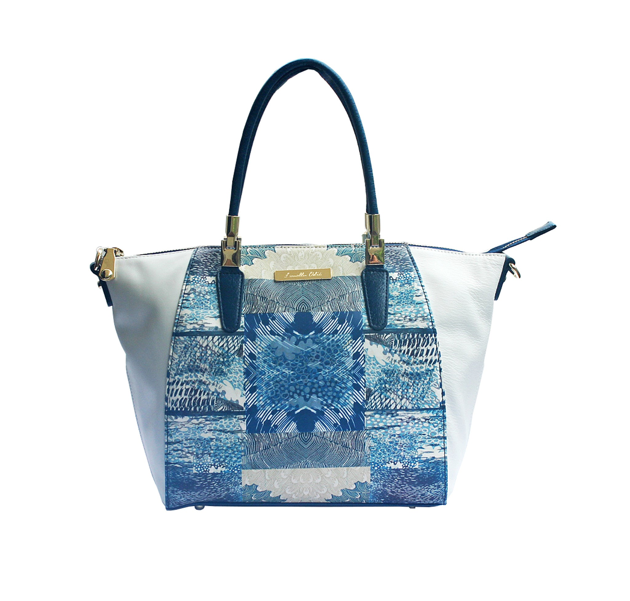 white leather Louella Odie Tote Bag