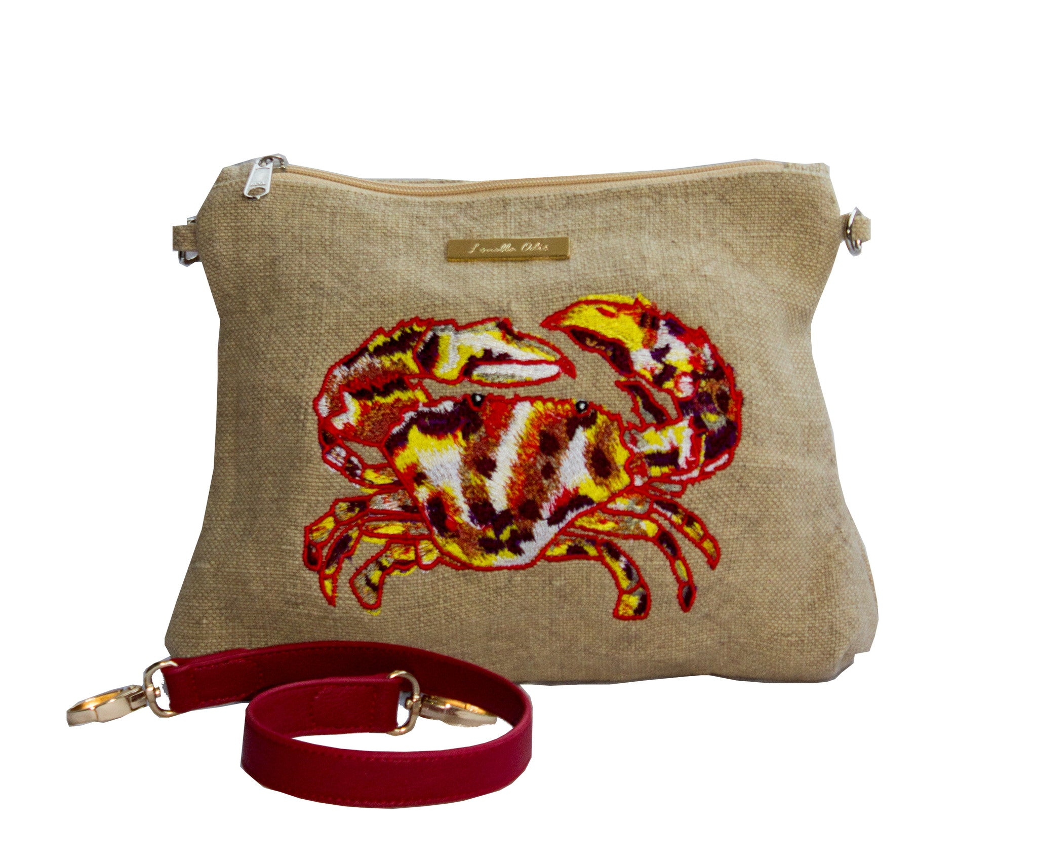 Detachable Strap on Crab Clutch Bag Louella Odie