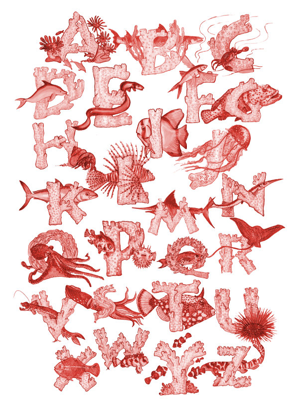 Under the Sea Alphabet Poster