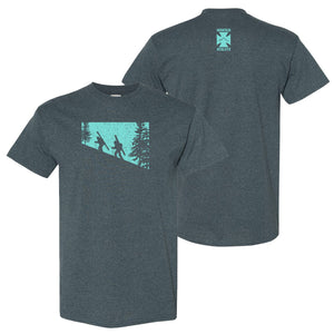 Dawn Patrol - Dark Heather with Blue