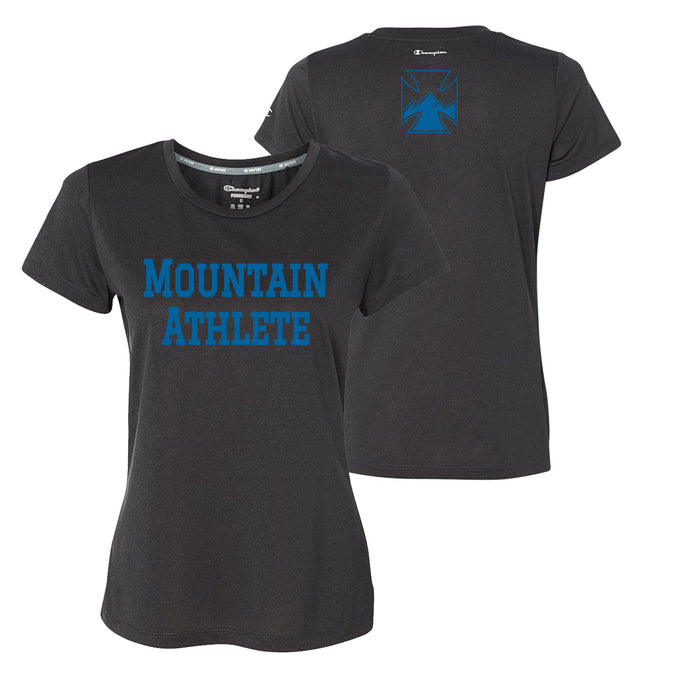 Mountain Athlete - Ladies Performance Tee - Black Heather