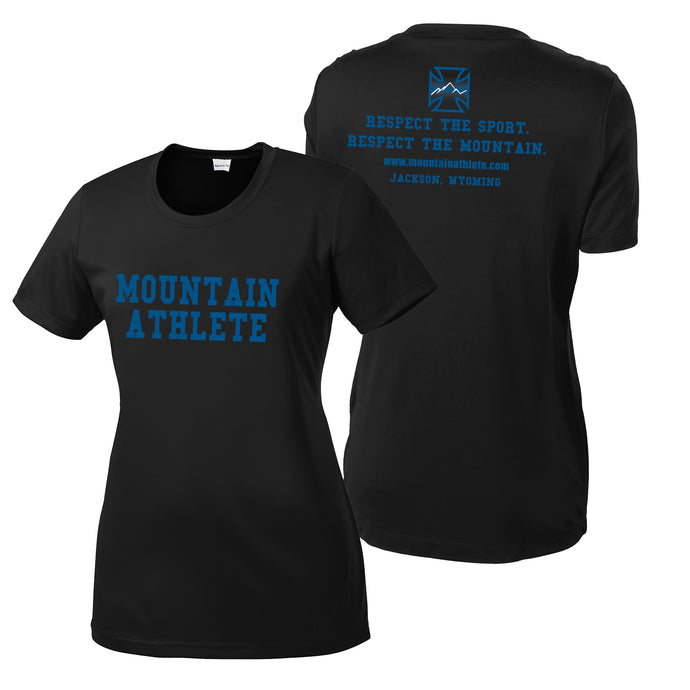 Mountain Athlete DryFit Ladies T-Shirt - Black